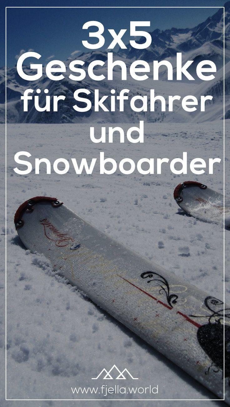 Geschenk mit skifahren