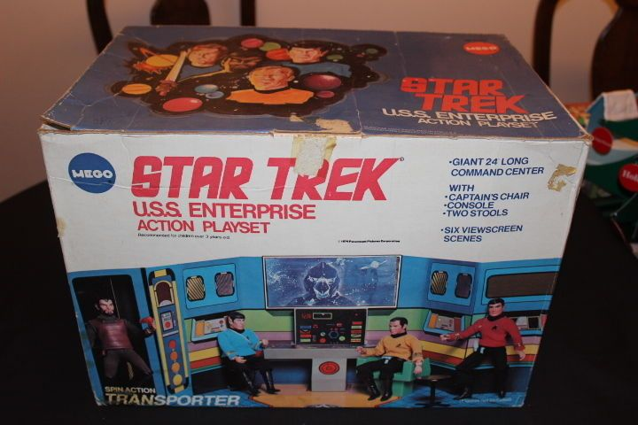 MEGO 1975 STAR TREK USS Enterprise Bridge Playset IN ORIGINAL BOX PLUS 3 FIGURES