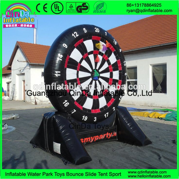 wholesale inflatable foot darts game Archery Dart for Sport Game inflatable soccer darts for sale