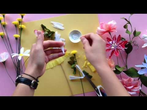 How to make a paper daisy - YouTube