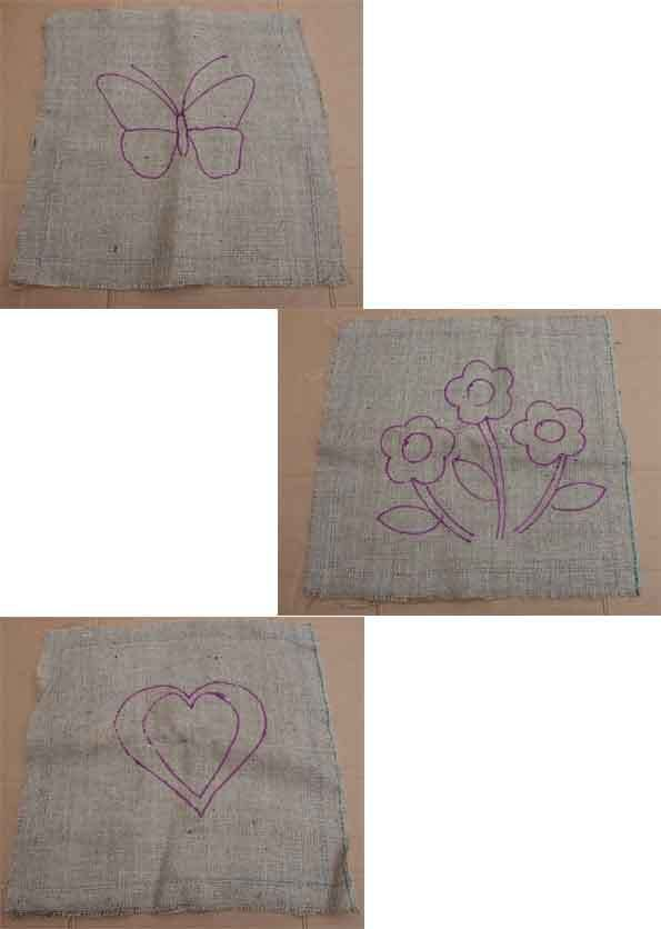Rag Rugging, Cushion Cover, Stencil, Hessian Fabric, Pegging, Prodding.