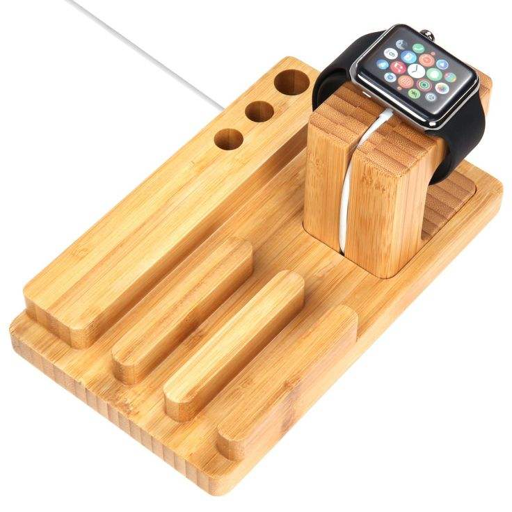 Amazon.com: iVAPO MM607 3-in-1 Bamboo Body Apple Watch, iPhone & iPad Stand for Apple iWatch 38mm/42mm, iPhone 5s, 6, 6 Plus, iPad Air, iPad Air 2, iPad mini: Cell Phones & Accessories