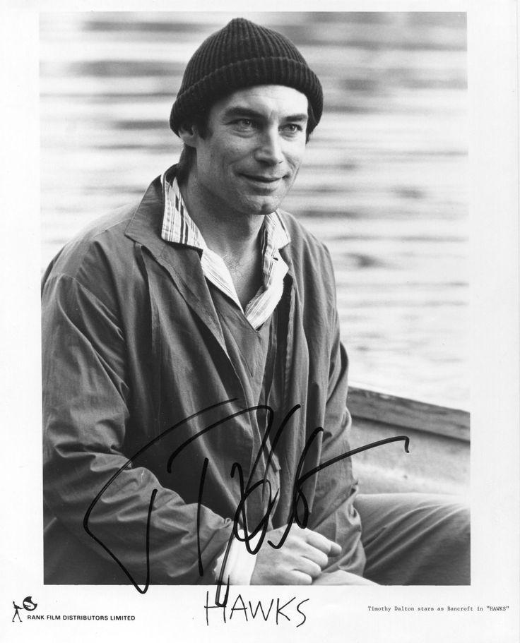 """Автограф Тимоти Далтона, """"Ястребы"""", 1988"""