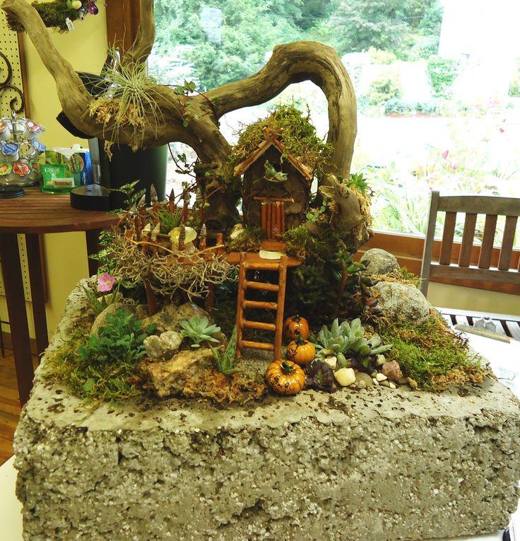 Fairy Tree Fort  Mini Garden