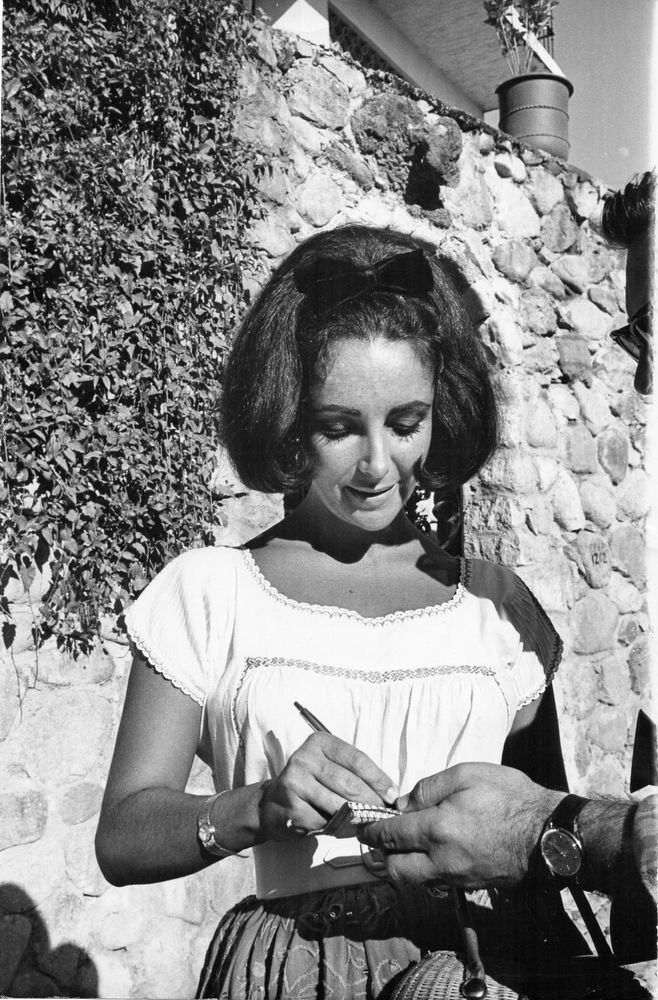 Liz Elizabeth Taylor 1958 belle photo originale d'époque 17 x 26 cm