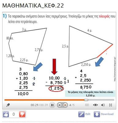 Πηγαίνω στην Τετάρτη...: Μαθηματικά: Ενότητα 4 - Μάθημα 22: Διαχειρίζομαι…
