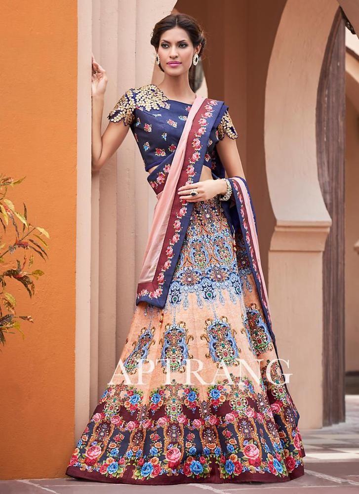 Pakistani Bollywood Traditional Indian wear Ethnic Choli Bridal Wedding Lehenga