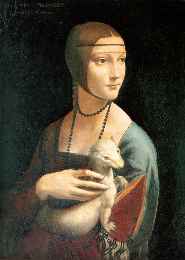 Leonardo da Vinci, Lady with an Ermine, Muzeum Czartoryskich #renaissance #painting