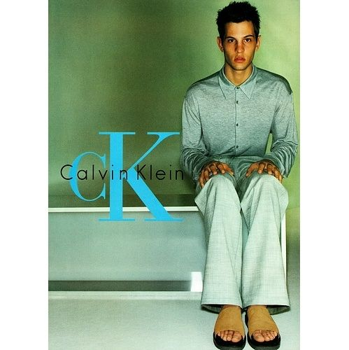 Kelly Rippy par Mario Testino pour la campagne CK Calvin Klein menswear automne-hiver 1999