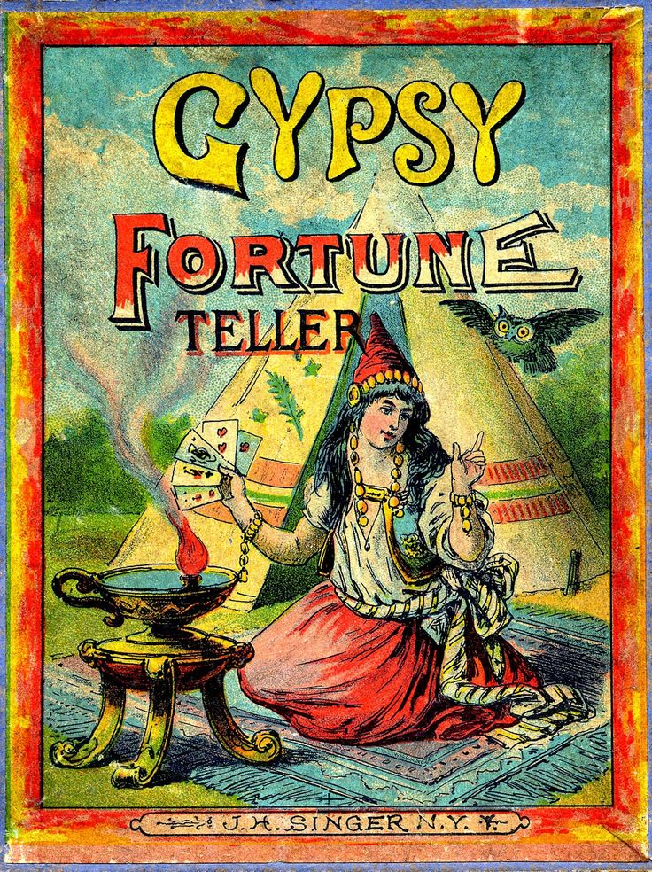 Antique Graphic - Gypsy Fortune Teller - The Graphics Fairy fortune telling cards 30-40