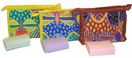 Natural Bath Soap Giftbag (3 various colours/design) $10.00 SPECIAL 3 for $28.00