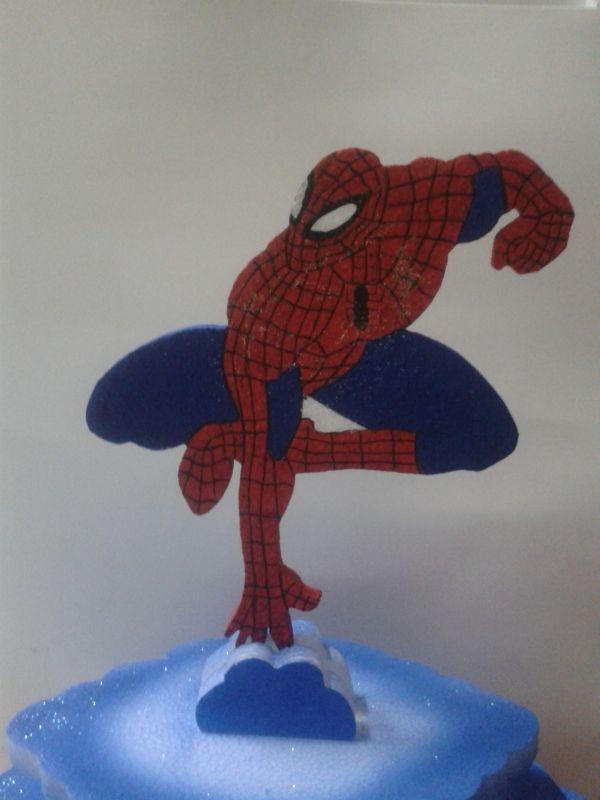 Tortera en icopor de Spiderman. #DecoracionesFiestas2013 #FiestasInfantiles