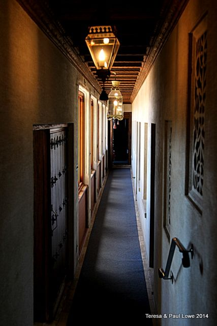 One of Mr. Hearst, clandestine hallways which would allow him to visit his guests, at any time, sometimes unannounced!