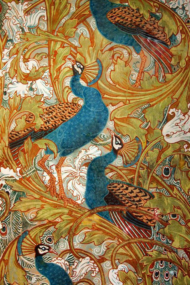 Walter Crane, Peacock garden corridor, 1898-1900. Museum of Applied Arts, Budapest.