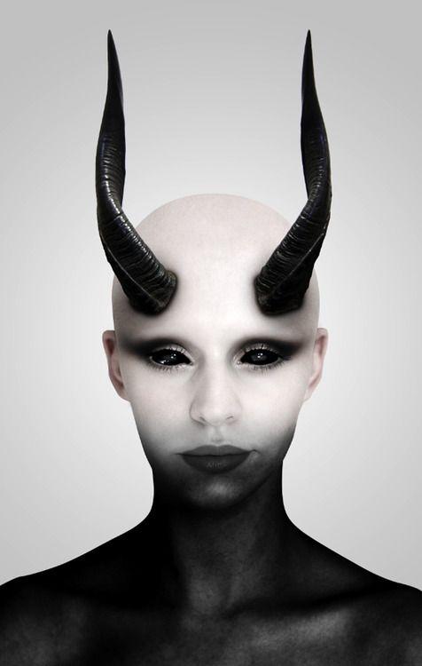 Crazy beautiful goth creature