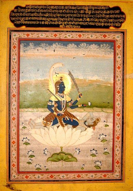 Kali in the form of one of the Mahavidyas- Tara- goddess of the star