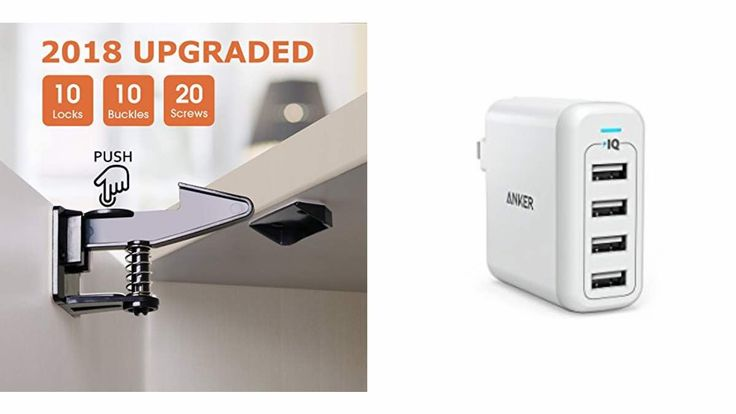 Geek Daily Deals Feb. 09, 2018: Baby/Toddler Kitchen Safety With Cabinet Latches; Anker's 4 Port IQ Charger - https://geekdad.com/2018/02/geek-daily-deals-feb-09-safety-latches-usb-charger/?utm_campaign=coschedule&utm_source=pinterest&utm_medium=GeekMom&utm_content=Geek%20Daily%20Deals%20Feb.%2009%2C%202018%3A%20Baby%2FToddler%20Kitchen%20Safety%20With%20Cabinet%20Latches%3B%20Anker%27s%204%20Port%20IQ%20Charger