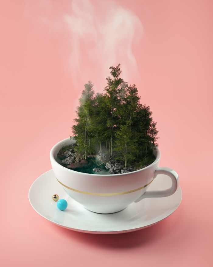 Hot cup of tree Art Print by Filip Hodas | Society6