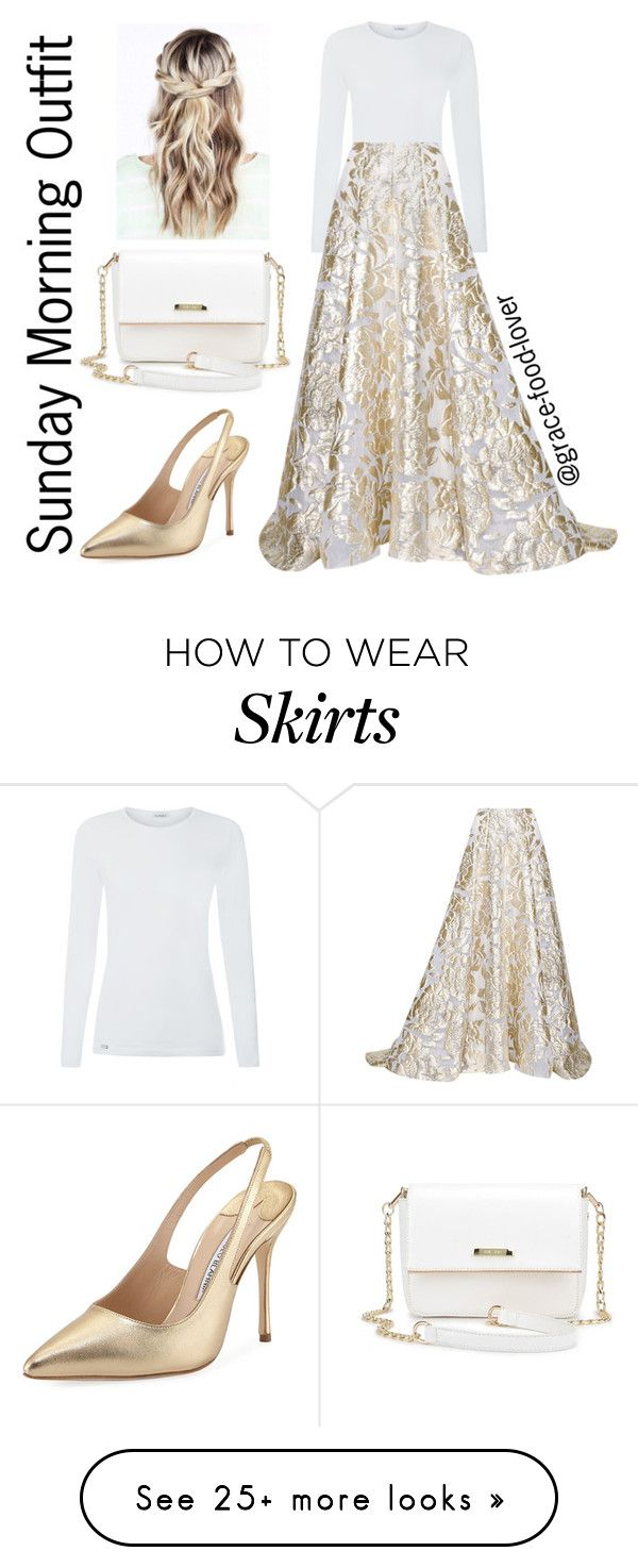 """""""Sunday Morning Outfit"""" by grace-food-lover on Polyvore featuring Lela Rose and Manolo Blahnik"""