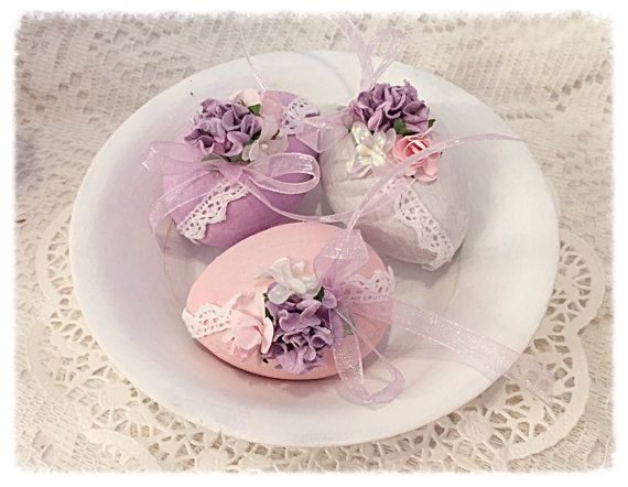 Cottage Chic 3 Easter EGGS 2.5 Bowl fillers by RoseChicFriends