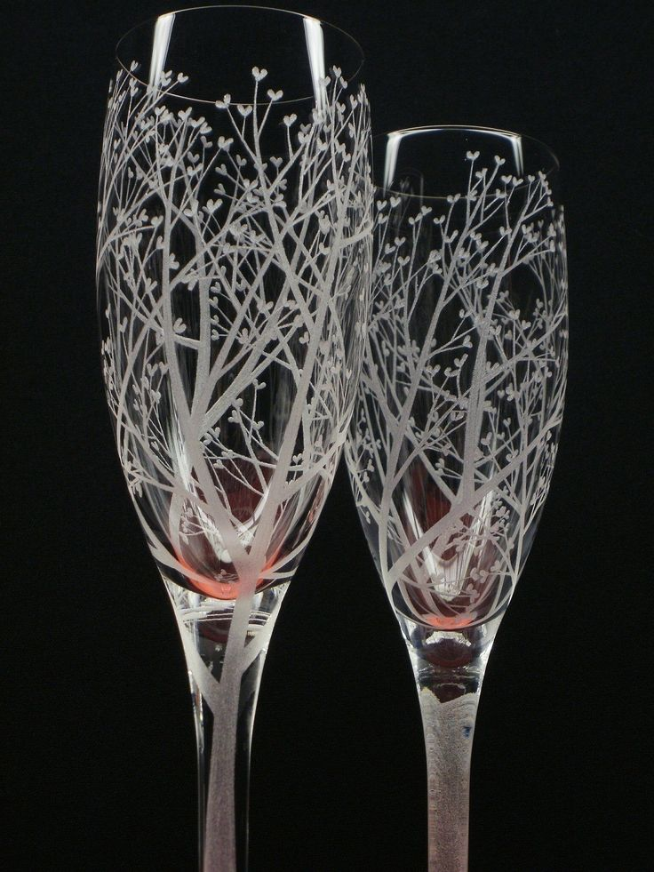 crystal hand painted champagne flute |