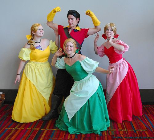 Beauty and the Beast - Gaston & the three bimbettes.