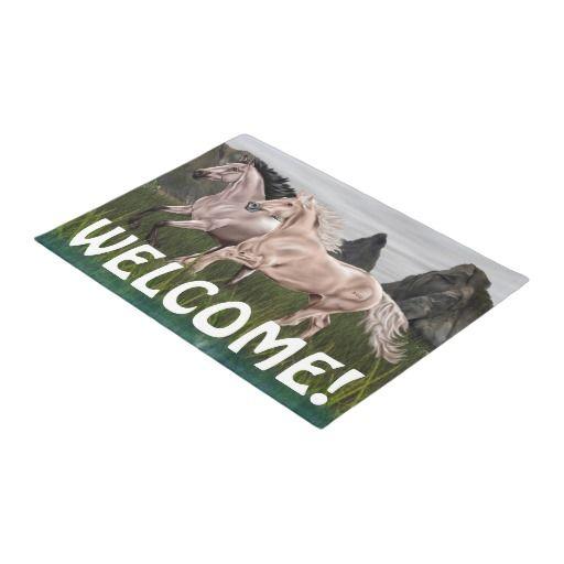 Buckskin and Palomino Horse Doormat