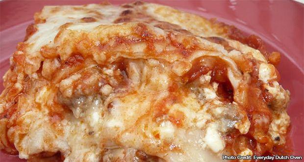 Dutch Oven Easy Lasagna Recipe - 50 Campfires