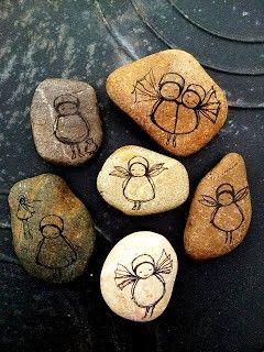 Cute little angel rocks! mooie gemaakte stenen