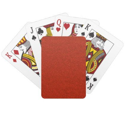 Red Glitter Playing Cards - glitter gifts personalize gift ideas unique