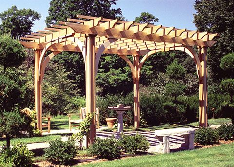 Post And Bracket Pergola This Pergola Has A Traditional