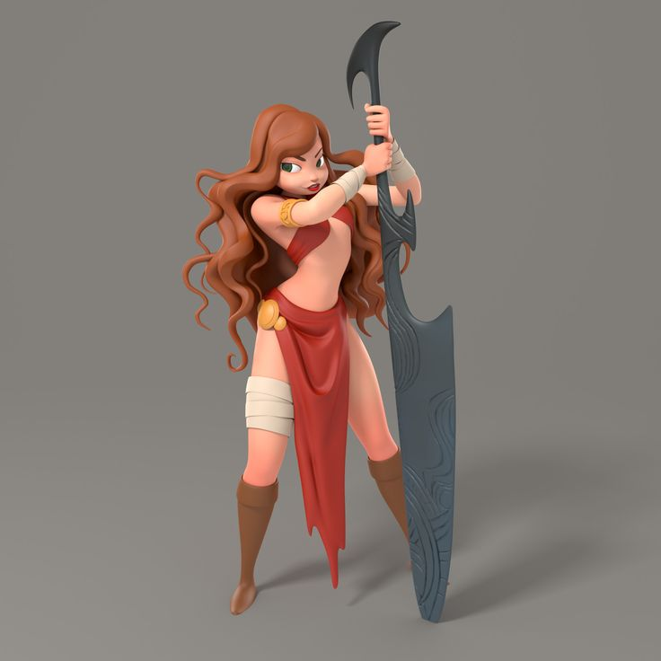Sword Girl, Kaleb Rice on ArtStation at https://www.artstation.com/artwork/r2Zwm