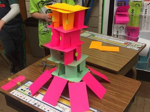 Finding a great STEM project for elementary grades does not have to be a challenge. This blog post gives you a great example of building a house of cards. You can do this with your 1st, 2nd, 3rd, 4th, or 5th grade classroom or home school students. Click through to get all the details on this fun project. It's perfect for any time of the school year. {first, second, third, fourth, fifth graders - STEM, STEAM, science technology engineering mathematics}
