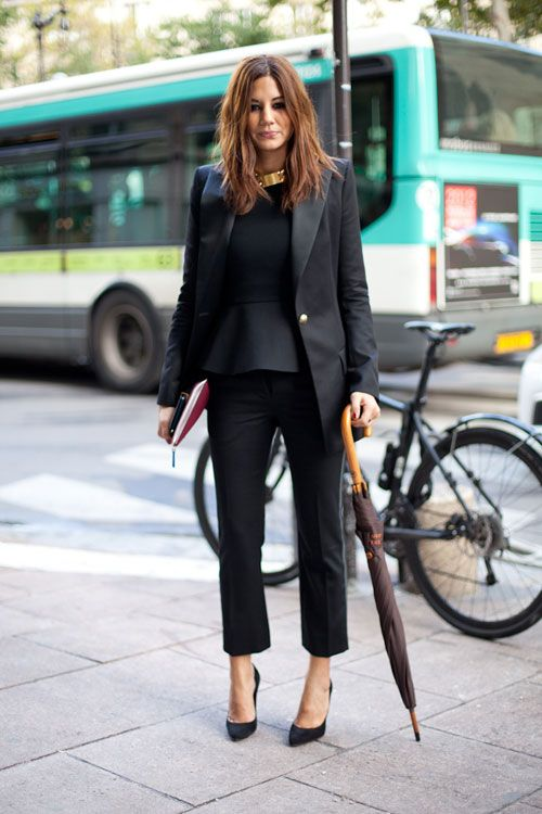 STREET STYLE SPRING 2013: PARIS FASHION WEEK - Christine Centenera does not shy away from noir.