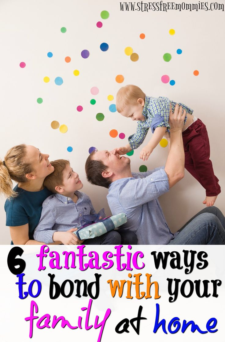 6 fantastic ways to bond with your family at home- Looking for ways to have fun and bond with your family at home? Then you must read this article, with a simple list of fun things you can do with your family that ditches technology and makes for long lasting memories. Even if it's snowing, raining or sunny outside, you can have fun at home with these fun ideas. This will for sure strengthen your family's relationship immediately. Read and Pin!