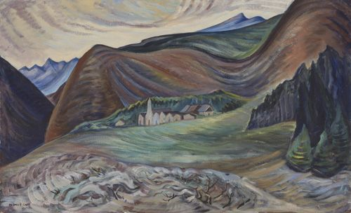 Village in the Hills, 1933. Emily Carr, Pemberton trip.