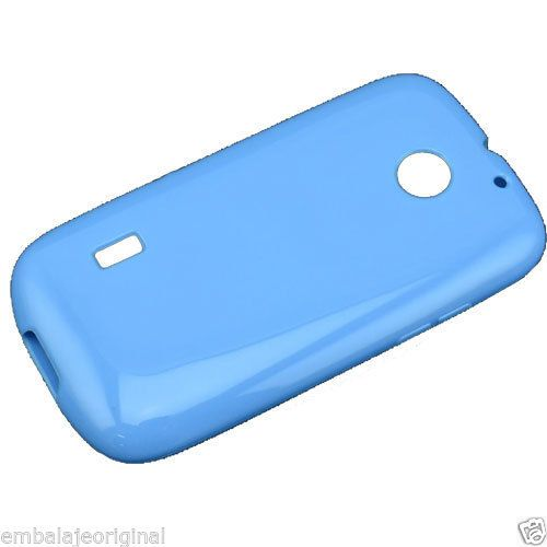 Funda Carcasa De Silicona Gel TPU Anti Deslizante Huawei Sonic U8650 Azul Claro