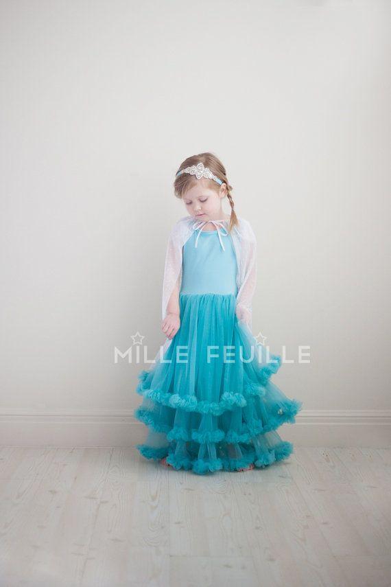 Gorgeous! Etsy listing at https://www.etsy.com/listing/175897661/frozen-princess-elsa-dress-pettiskirt