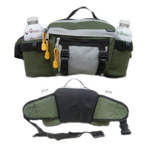This was picked for the bag, it seems well made and for as short as this commute is holds everything needed, plus it doesn't look out of place being left in the office.   Dual Hydration Waist Pack Moss By Everest Everest