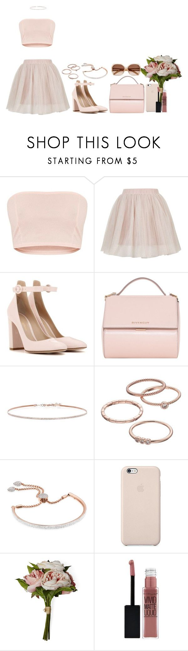 """""""Untitled #1402"""" by hernandezjenni ❤ liked on Polyvore featuring Rare London, Gianvito Rossi, Givenchy, EF Collection, LC Lauren Conrad, Monica Vinader, House & Home, Maybelline and Chloé"""