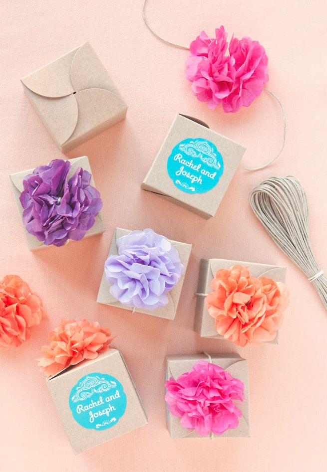 5 Ways To Style Kraft Favor Boxes from My Own Ideas blog.