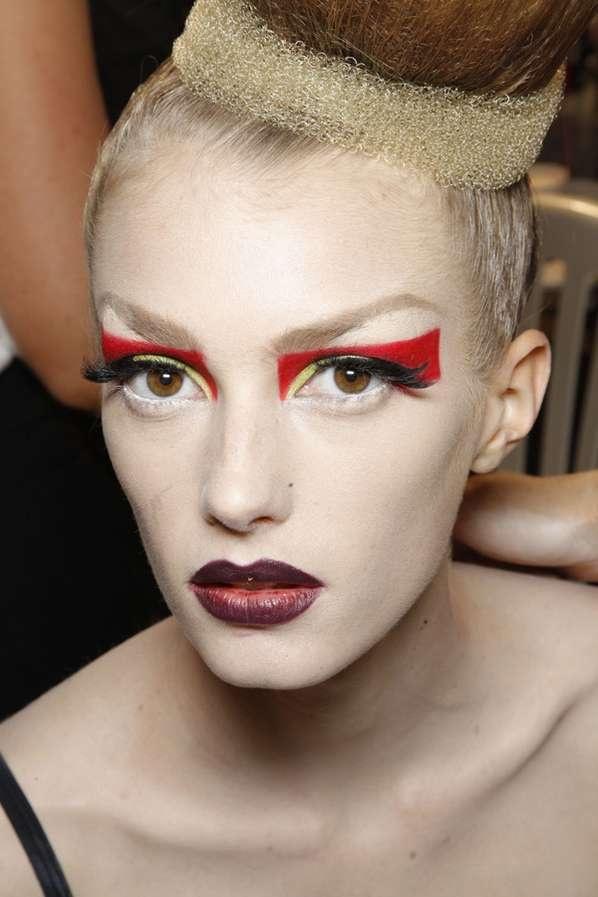 color blocked makeup