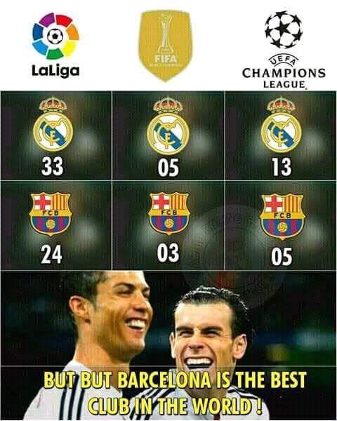 Real Madrid Vs Barca La Liga Champions League Zenaido