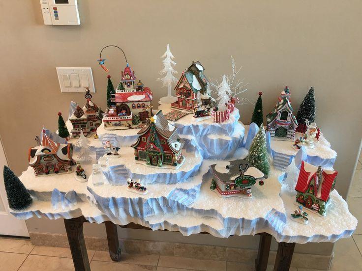 271 best Christmas Village images on Pinterest Christmas villages - christmas town decorations