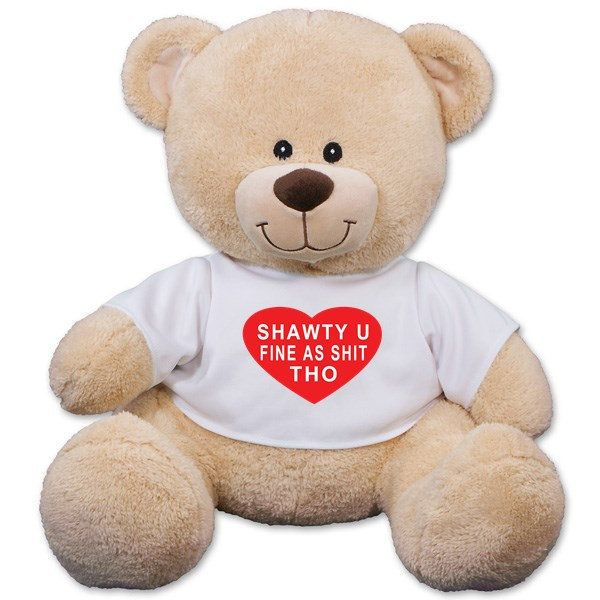 Shawty U Fine As Shit Tho Teddy Bear Funny Valentine S Day Gift For Her Gift For Him In 2021 Valentines Day Teddy Bear Personalised Teddy Bears Graduation Teddy Bear