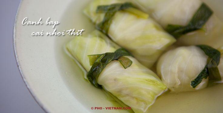 Gevulde kool-soep / Canh bap cai nhoi thit (foto: Pho Vietnam © Kim Le Cao)