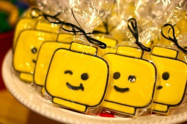 Mmmm. Lego cookies. | How To Throw The Ultimate LEGO Birthday Party