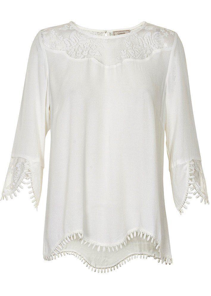 Cream Bluse hvid 10601772 Kalanie Blouse - chalk