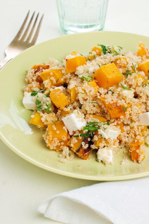 Ricetta Insalata di quinoa con zucca e feta - Nuova Terra