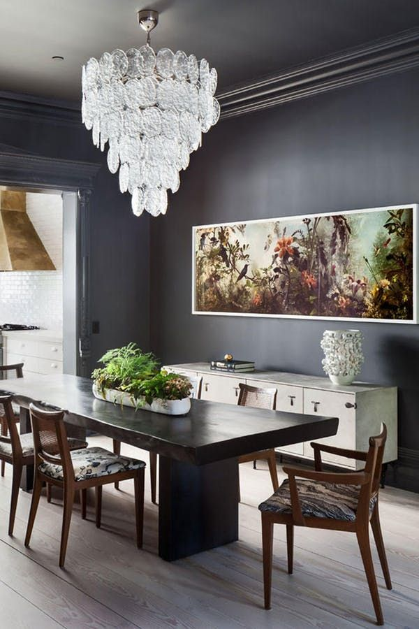 The Best Paint Colors For Dark Rooms According To Designers Dark Dining Room Dining Room Paint Colors Dining Room Paint